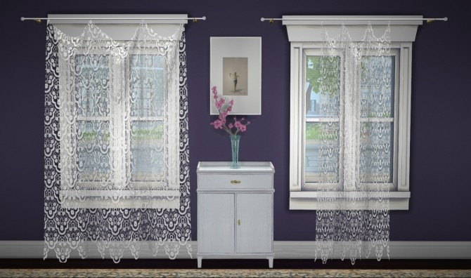 Build a curtain set lace at GreenGirl100 image 1282 670x396 Sims 4 Updates