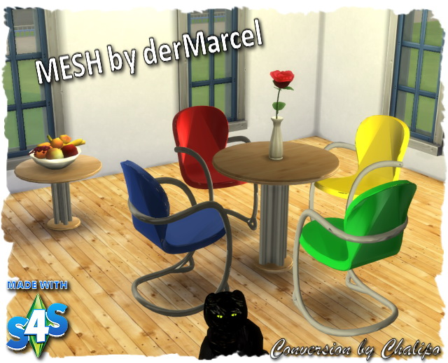 MESH dining round by Chalipo at All 4 Sims image 1302 Sims 4 Updates
