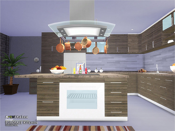 Euroface Kitchen by ArtVitalex at TSR image 13101 Sims 4 Updates