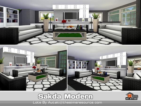 Sims 4 Sakda Modern house by autaki at TSR