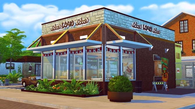 Goldy S Griddle Retro Roadside Diner At Jenba Sims 187 Sims