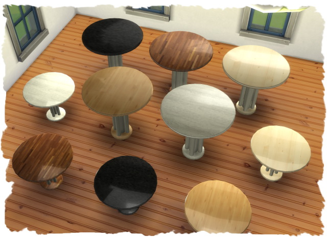MESH dining round by Chalipo at All 4 Sims image 1323 Sims 4 Updates