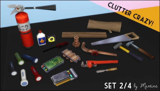 Sims 4 Clutter Crazy Part 2 Tools and Garage at Martine's Simblr