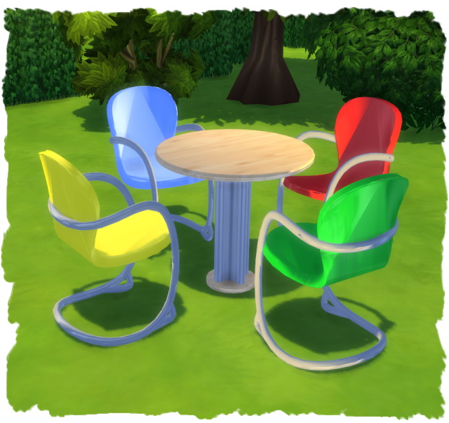 Sims 4 MESH dining round by Chalipo at All 4 Sims