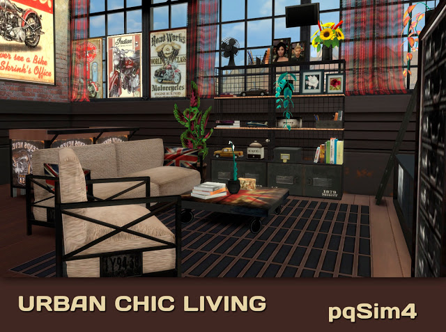 Urban Chic Living By Mary Jiménez At PqSims4 » Sims 4 Updates