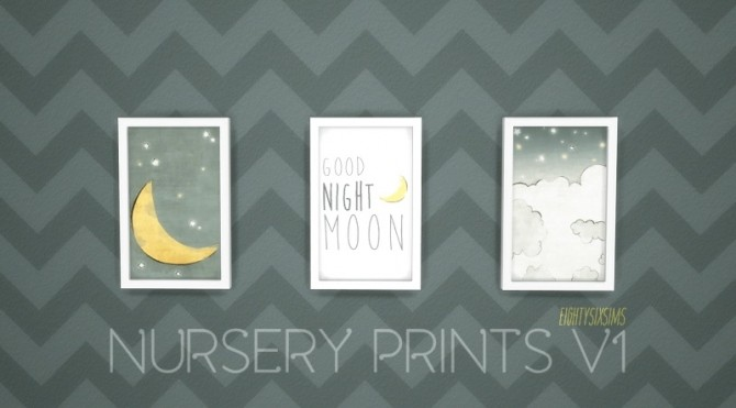 Sims 4 Nursery Prints by eightysixsims at SimsWorkshop