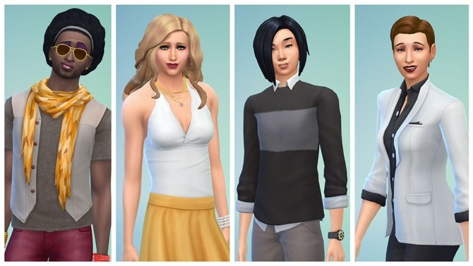 Sims 4 CAS Update* Gender Customization Options at The Sims™ News