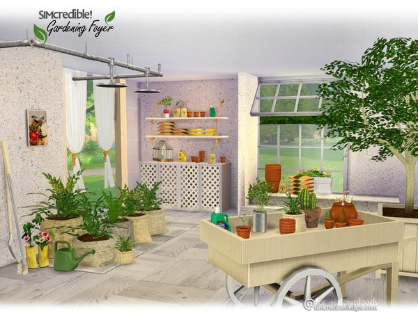 Gardening Foyer Plants by SIMcredible at TSR image 1390 Sims 4 Updates