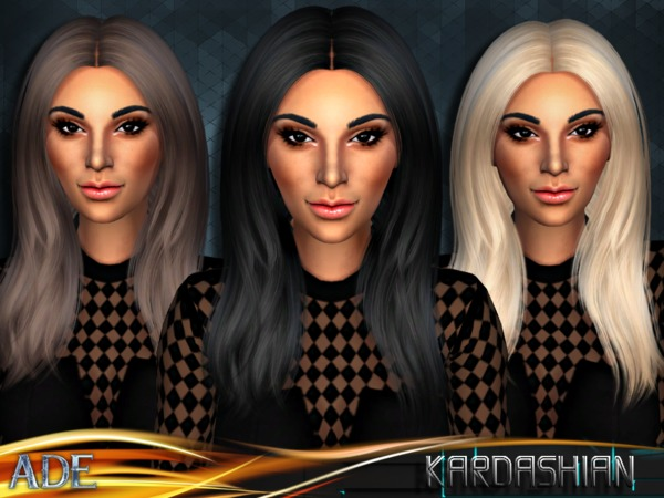 Sims 4 Kardashian hair by Ade Darma at TSR