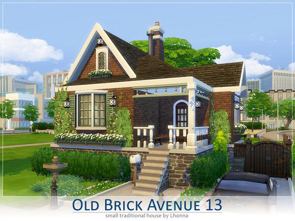Sims 4 Old Brick Avenue 13 by Lhonna at TSR