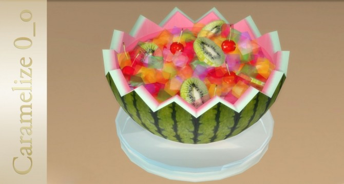 Fruit Dessert clutter at Caramelize image 1445 670x358 Sims 4 Updates