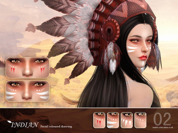 Indian facial colored drawing 02 by S Club LL at TSR image 1450 Sims 4 Updates