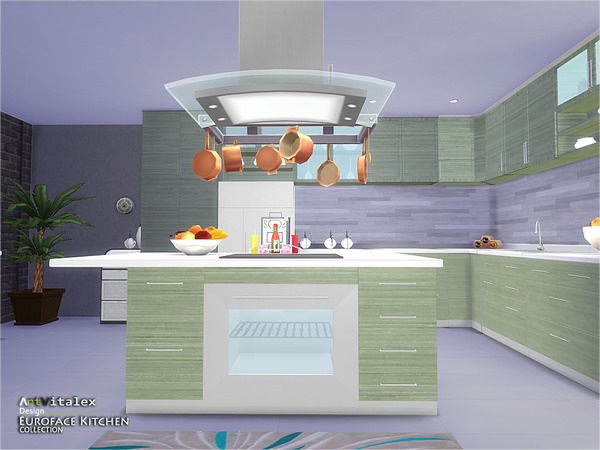Euroface Kitchen by ArtVitalex at TSR image 1470 Sims 4 Updates