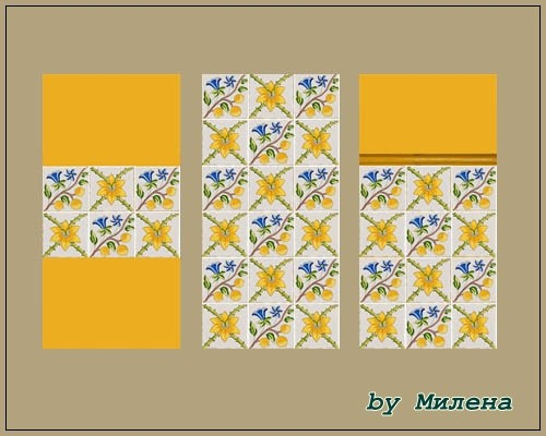 Sims 4 Novecento Camel tiles at Sims by Mulena