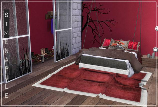 Sims 4 Merak bedroom set by Ronja at Simenapule