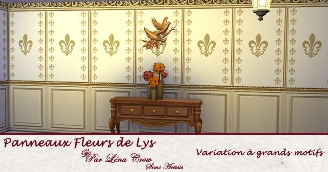 Sims 4 Fleur de Lys pannels by LénaCrow at Sims Artists