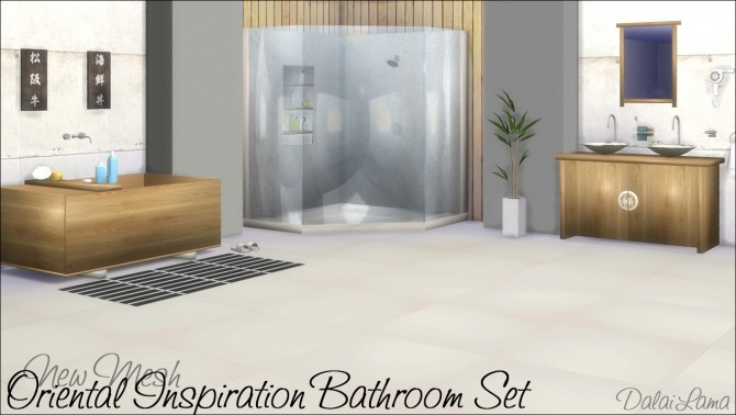 Oriental Inspiration bathroom set by DalaiLama at The Sims Lover image 1489 670x378 Sims 4 Updates