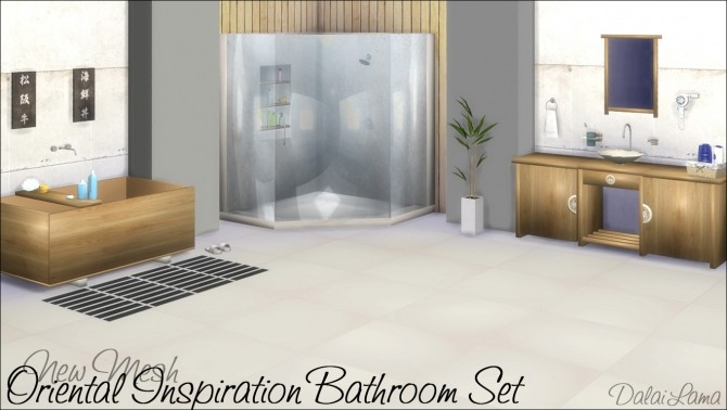 Oriental Inspiration bathroom set by DalaiLama at The Sims Lover image 14910 670x378 Sims 4 Updates