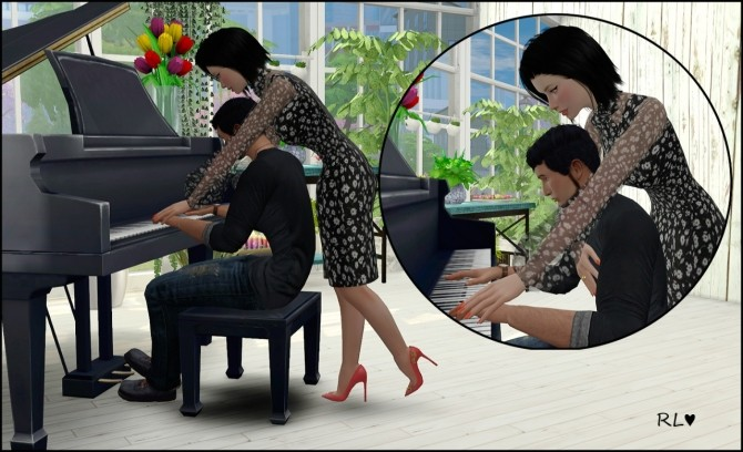 With piano ver2 posepack at Rethdis-love » Sims 4 Updates
