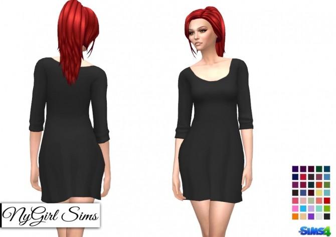 Basic Three Quarter Sleeve Tee Dress at NyGirl Sims image 15112 670x473 Sims 4 Updates