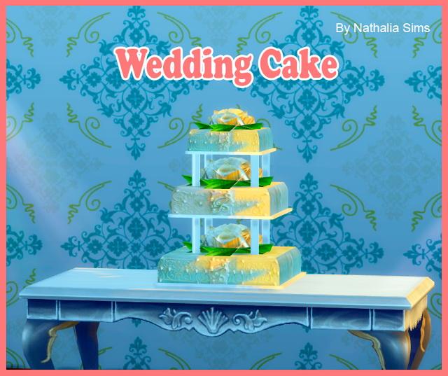 Wedding Cake Conversion 2t4 At Nathalia Sims » Sims 4 Updates