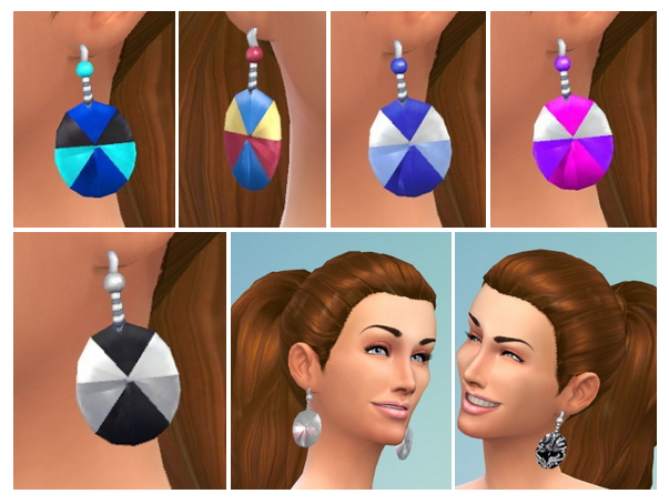 Sims 4 Colored Circle Earings at Birksches Sims Blog