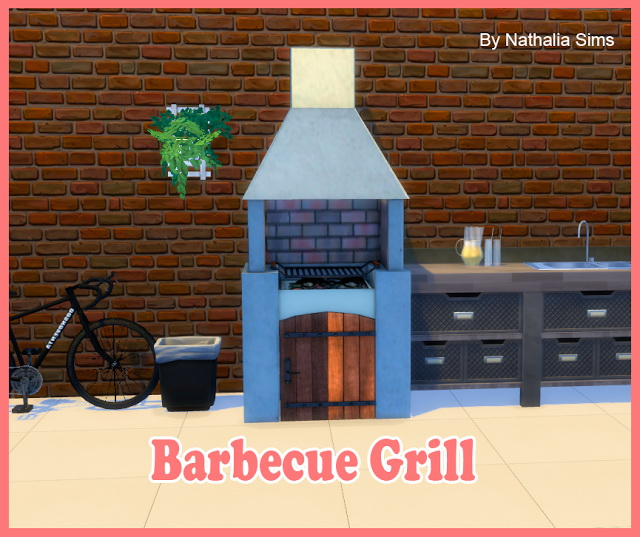 Barbecue Grill Conversion 2t4 At Nathalia Sims 187 Sims 4