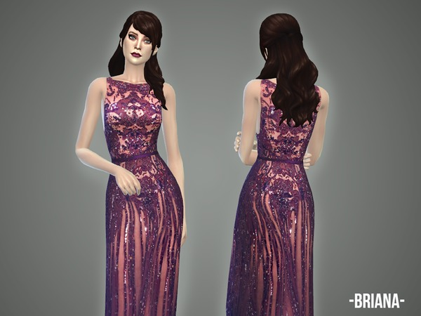 Briana gown by April at TSR image 1529 Sims 4 Updates