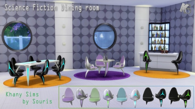 Science Fiction Diningroom By Souris At Khany Sims 187 Sims