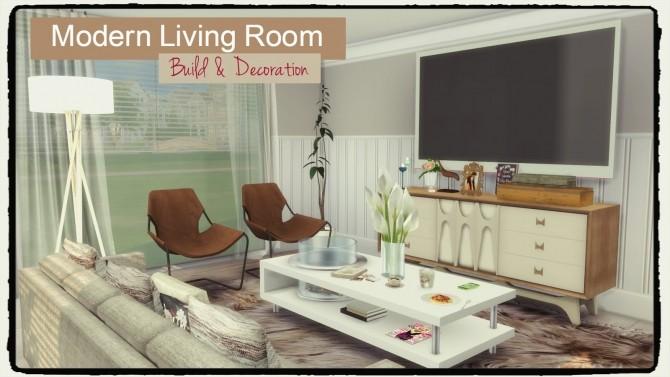 Sims 4 Modern Living Room at Dinha Gamer