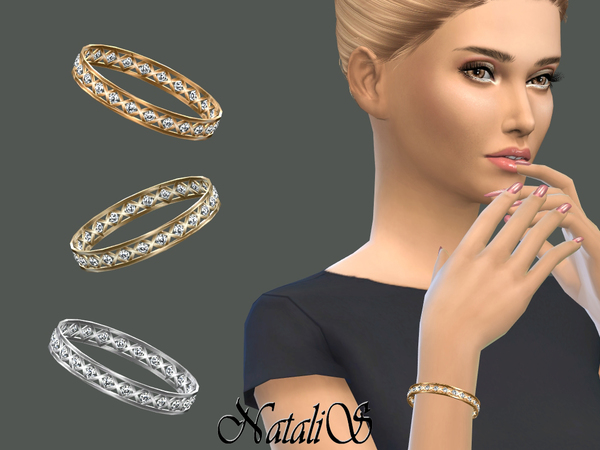 Sims 4 Cage and crystals bracelet by NataliS at TSR