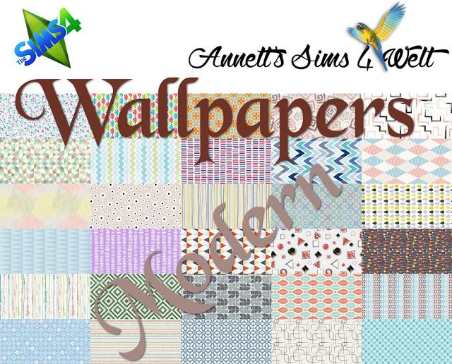 Sims 4 Modern wallpapers at Annett's Sims 4 Welt