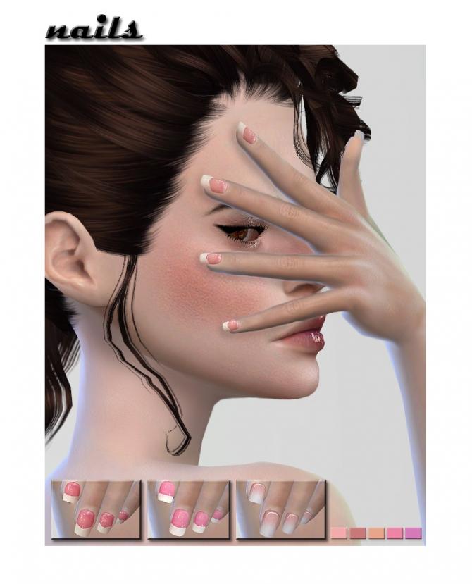 French Nails At Shojoangel 187 Sims 4 Updates