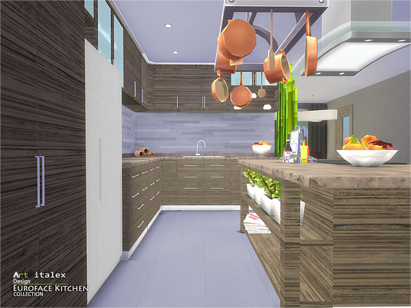 Euroface Kitchen by ArtVitalex at TSR image 1560 Sims 4 Updates