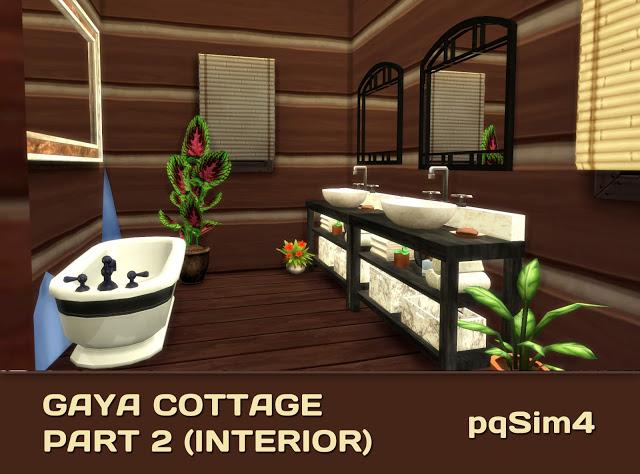 Sims 4 Gaya Cottage Part 2 (Interior) by Mary Jiménez at pqSims4