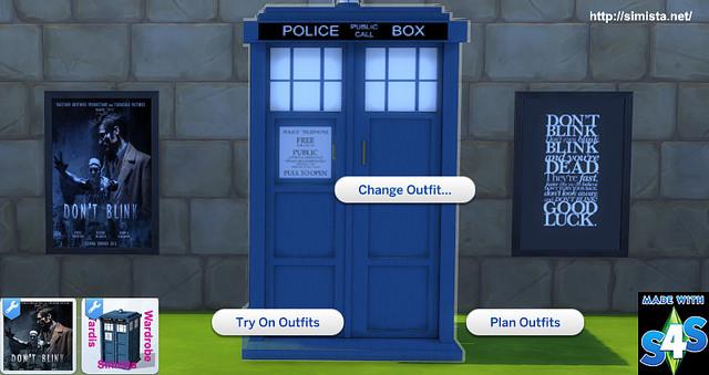 Sims 4 Dr Who Tardis Wardrobe at Simista