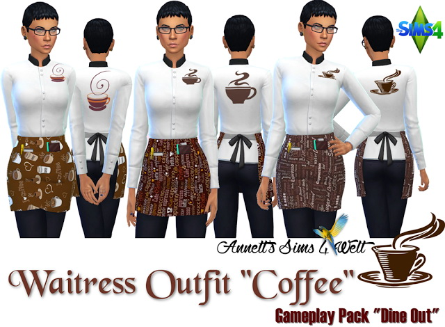 Coffee Waitress Outfit at Annett's Sims 4 Welt image 1594 Sims 4 Updates