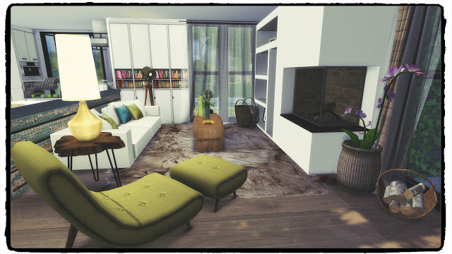 Sims 4 Newcrest Modern House with Pool (Build & Decoration) at Dinha Gamer