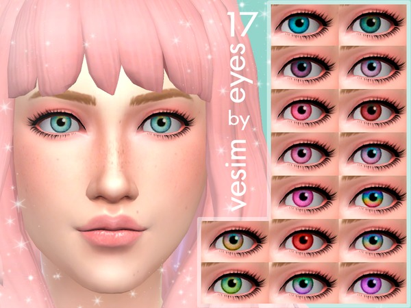 Sims 4 17 Eyes Non Default by vesim at TSR