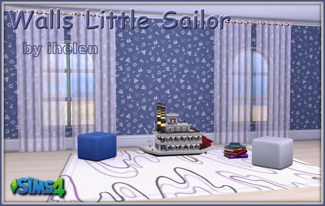 Walls Little Sailor by ihelen at ihelensims image 16511 670x425 Sims 4 Updates