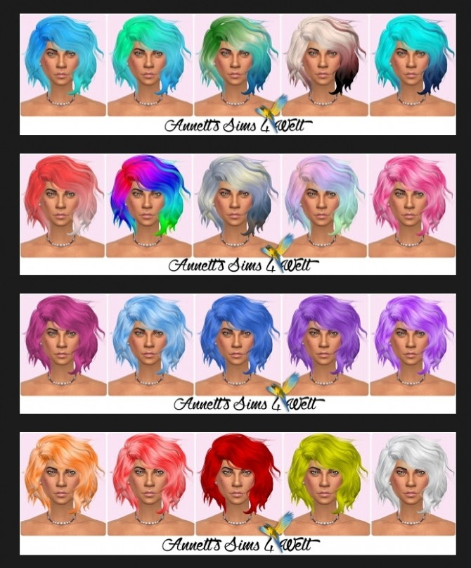Leah Lillith Hair Titanium Recolors at Annett's Sims 4 Welt image 1658 670x807 Sims 4 Updates