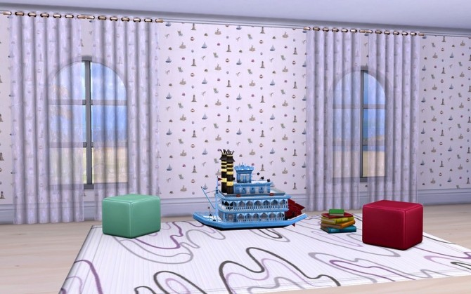 Walls Little Sailor by ihelen at ihelensims image 16711 670x419 Sims 4 Updates