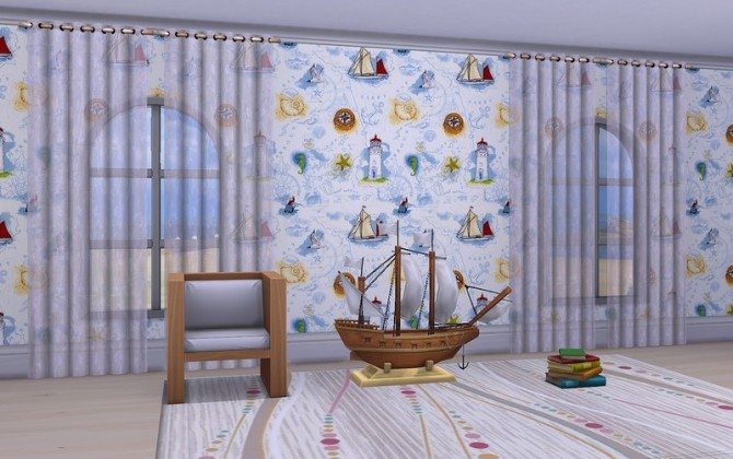 Walls Little Sailor by ihelen at ihelensims image 16811 670x420 Sims 4 Updates