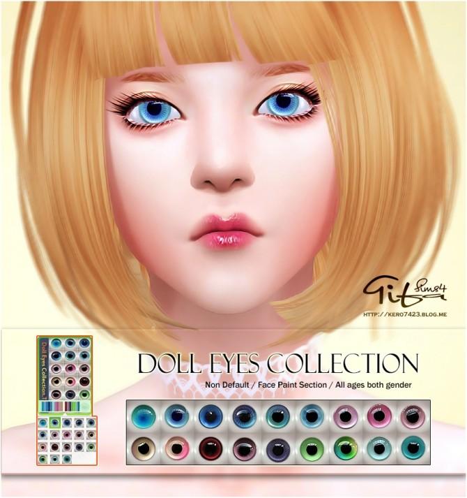 Sims 4 Doll eyes collection at Tifa Sims