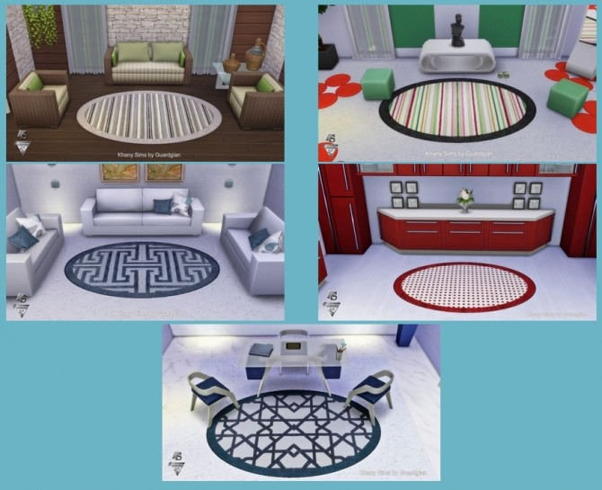 Sims 4 Ovalissimes rugs by Guardgian at Khany Sims