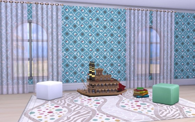 Walls Little Sailor by ihelen at ihelensims image 16911 670x419 Sims 4 Updates