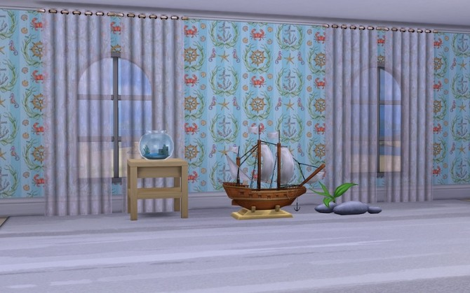 Walls Little Sailor by ihelen at ihelensims image 17012 670x419 Sims 4 Updates