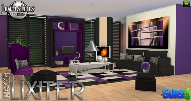 Lixiter livingroom at jomsims creations sims 4 updates for 3 star living room chair sims