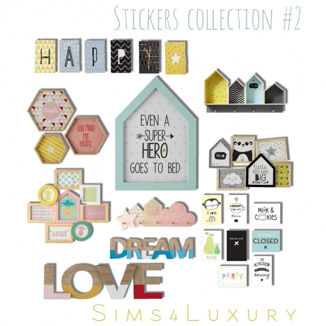 Sims 4 Sticker collections at Sims4 Luxury