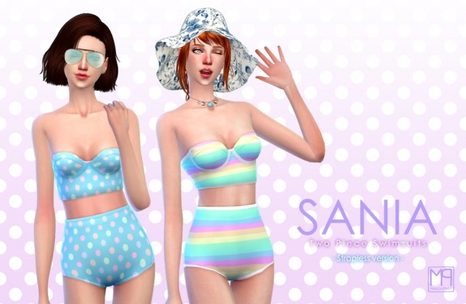 Sania two piece swimsuits at manuea Pinny image 1731 670x438 Sims 4 Updates